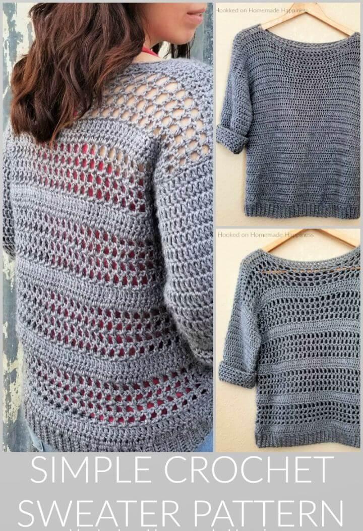 Simple Free Crochet Sweater Pattern
