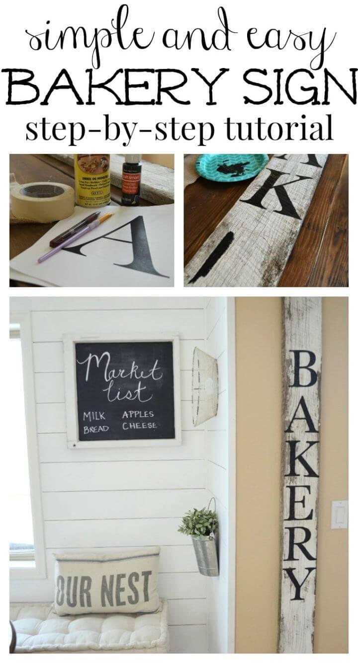 Simple and Easy DIY Bakery Sign, bakery sign, diy ideas, creative diys,