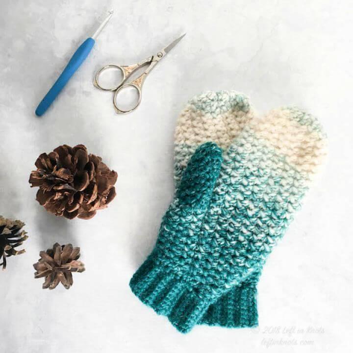 Snowball Mittens Free Crochet Gloves Pattern