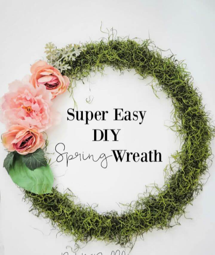 Super Easy DIY Spring Wreath Tutorial