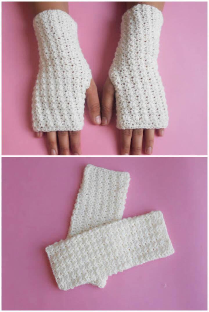 Super Fast Easy Crochet Gloves Free Pattern