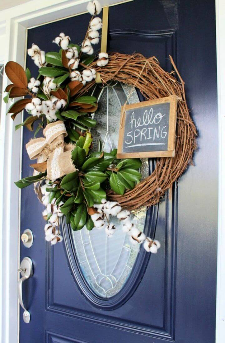 Super Simple DIY Spring Wreath Tutorial