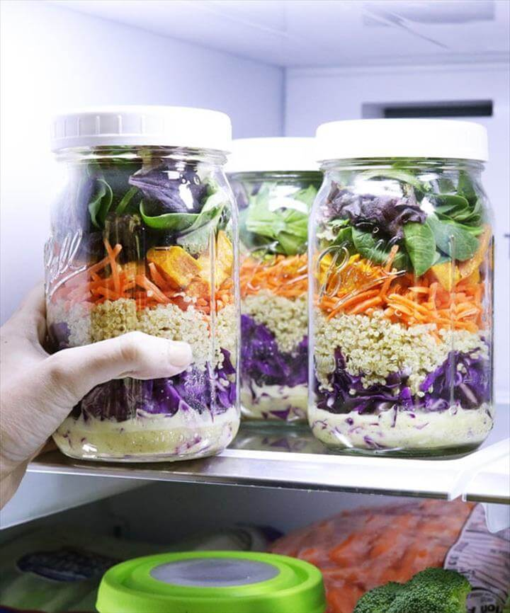 Sweet Potato & Quinoa Mason Jar Salads