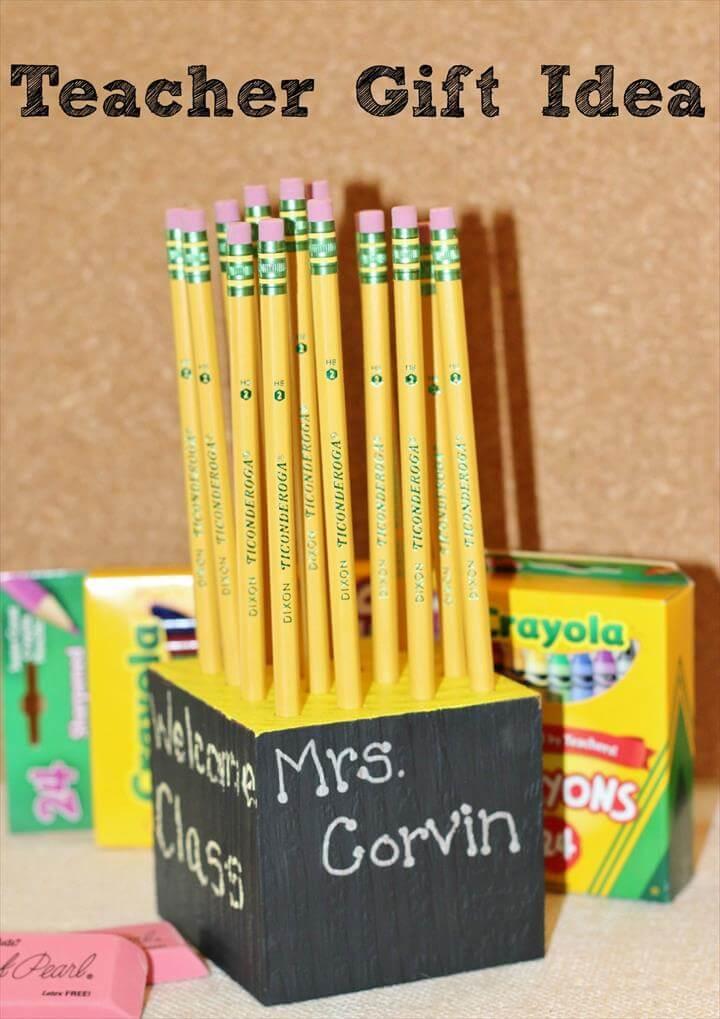 Teacher Pencil Holder Gift Idea
