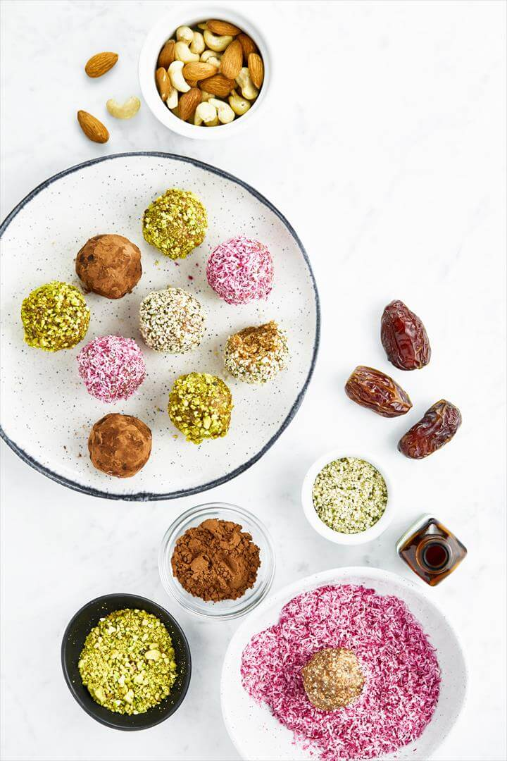 Triple Almond Energy Balls