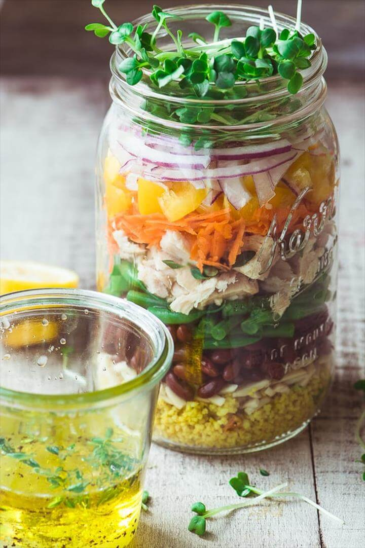 Healthy Layered Tuna Salad Jars