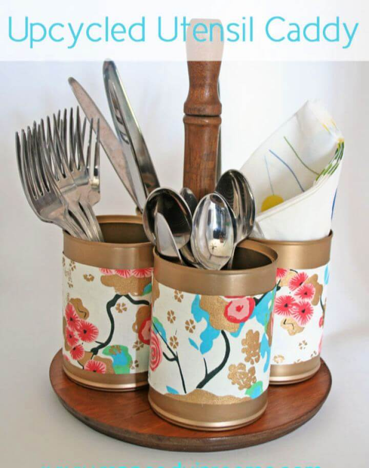 Upcycled Utensil Caddy Tutorial
