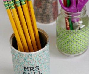 Washi Tape Pencil Holders