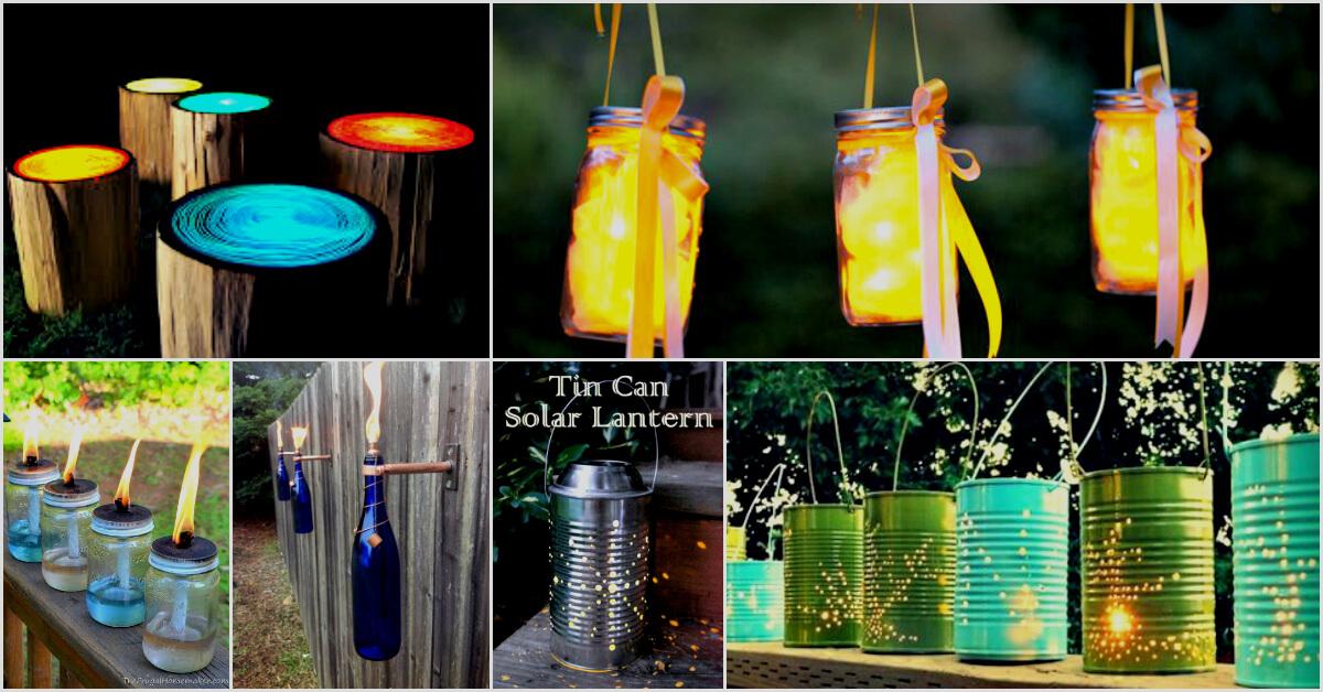 25 Handmade Easy Outdoor Lighting Ideas Diy Creative Diys