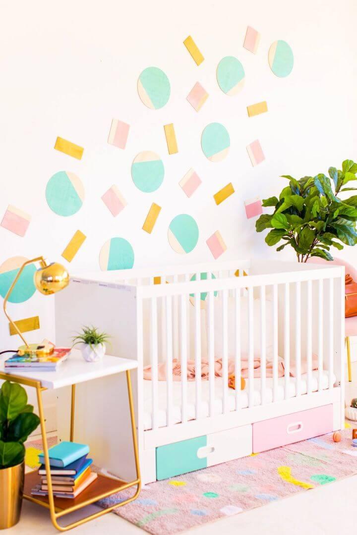 Abstract Shapes DIY Nursery Wall Decor