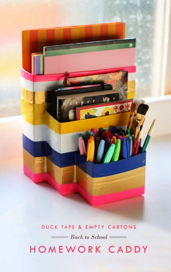 Back To School Homework Caddy Box