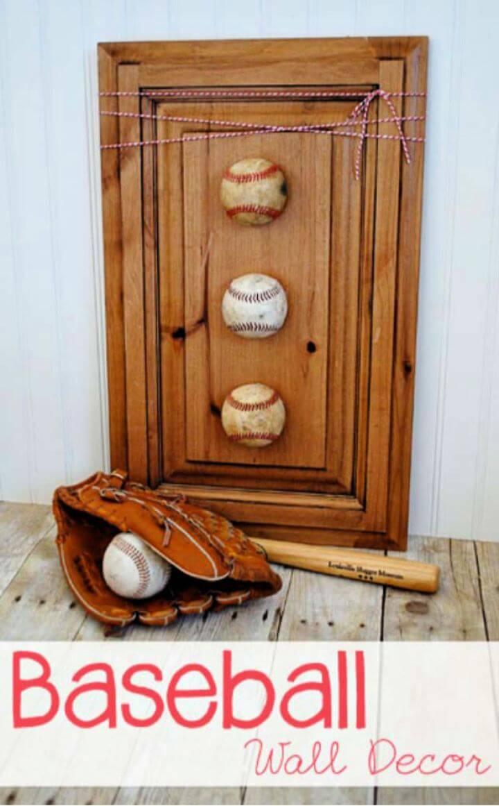 Beautiful DIY Baseball Wall Decor