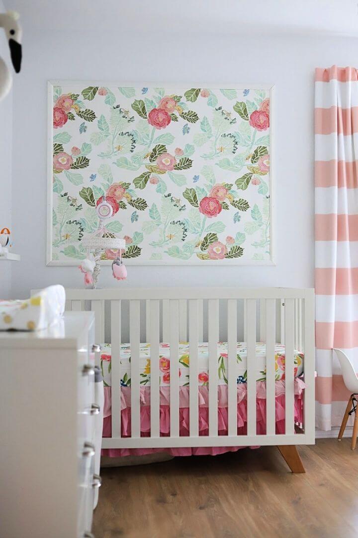 Beautiful DIY Floral Theme Nursery