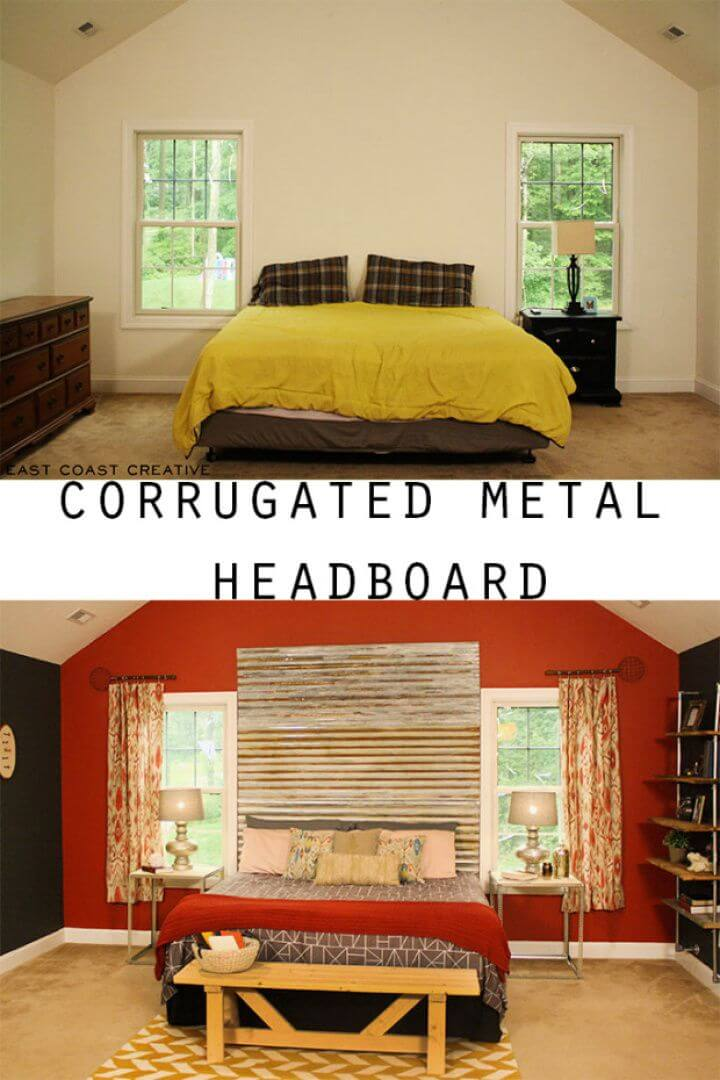 Best DIY Corrugated Metal Headboard