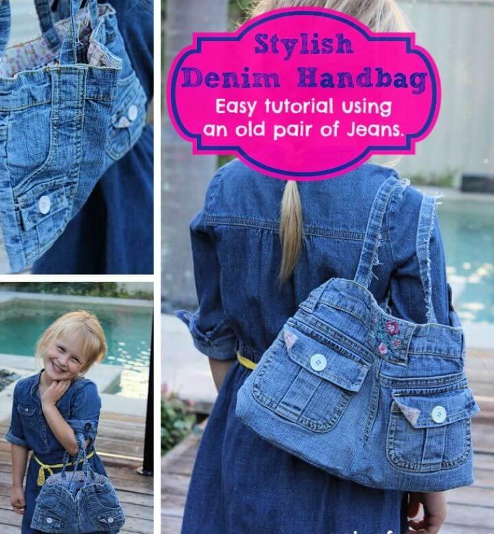 Best DIY Handbag Using A Pair Of Jeans