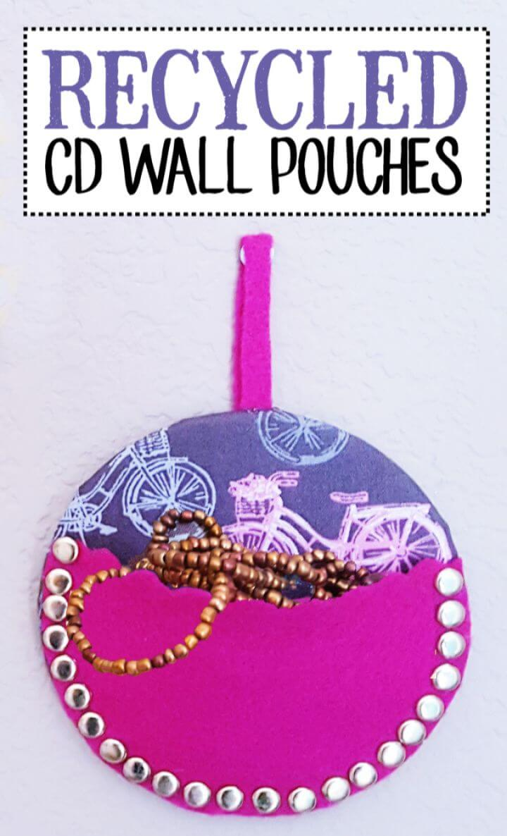 Build A DIY CDs Into Wall Pouches
