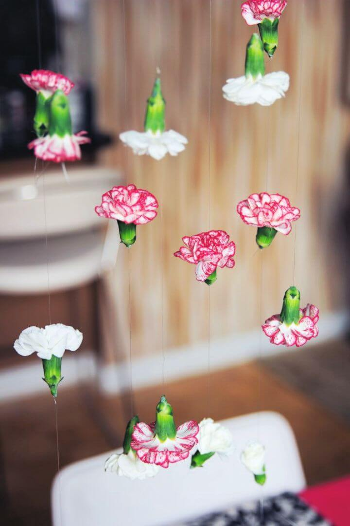 Build A DIY Cascading Chandelier Flower Garland