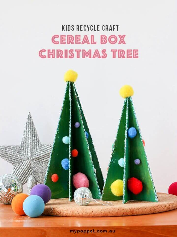 Build A DIY Cereal Box Christmas Tree