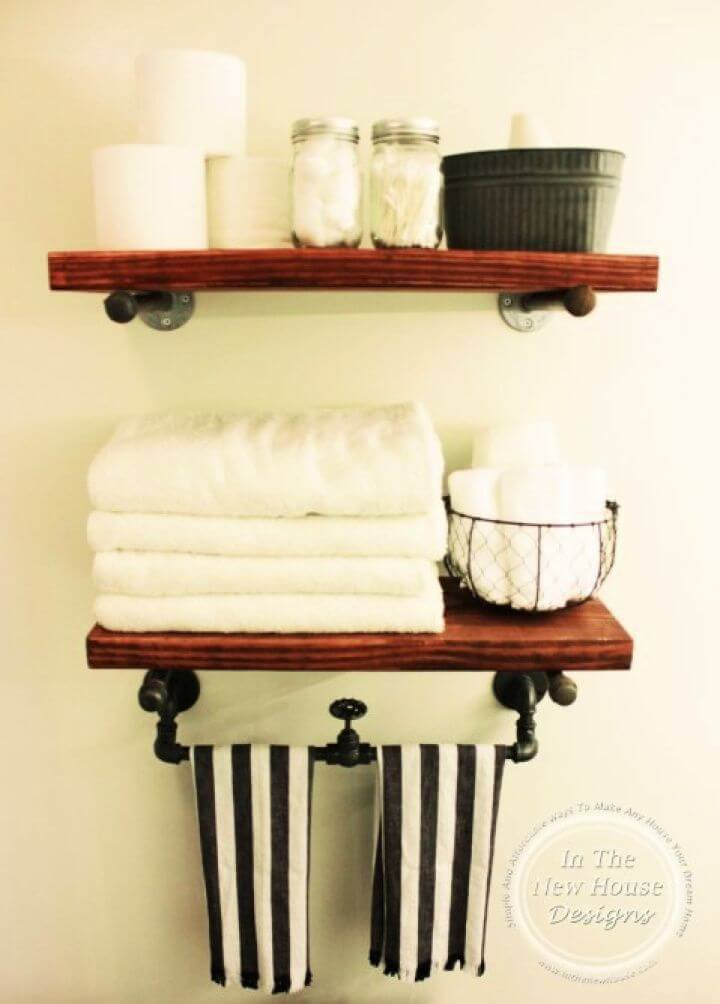 Build A DIY Industrial Farmhouse Shelving