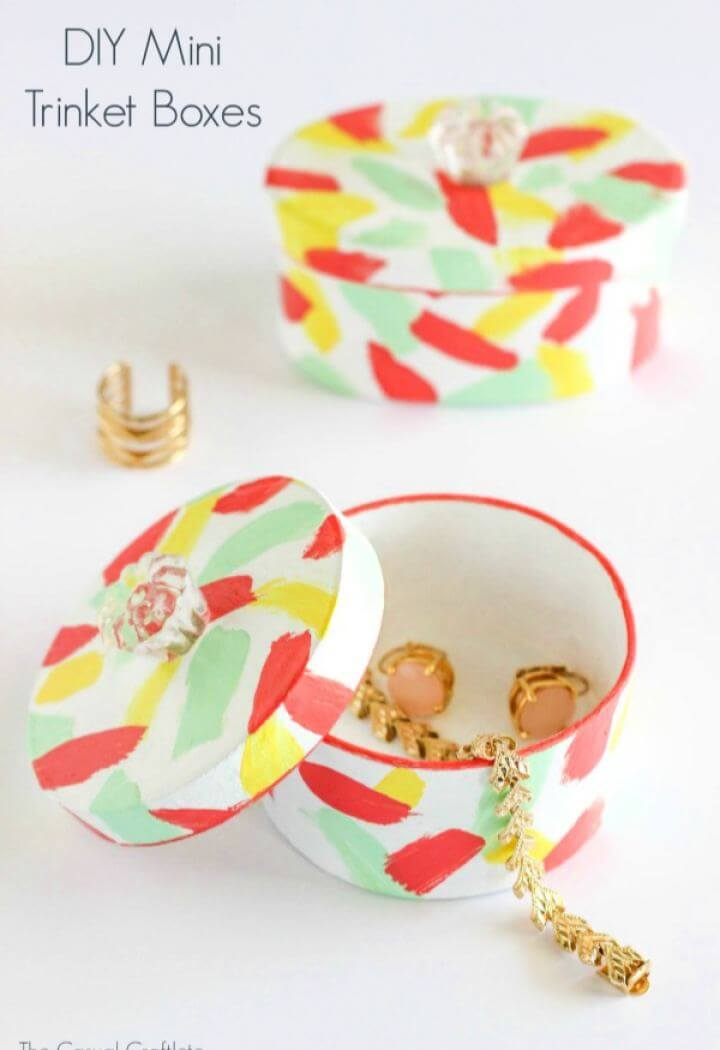 Build A DIY Mini Trinket Boxes