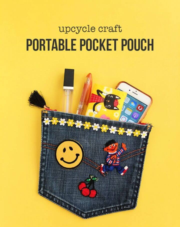 Build A DIY Upcycle Craft Portable Pocket Pouch