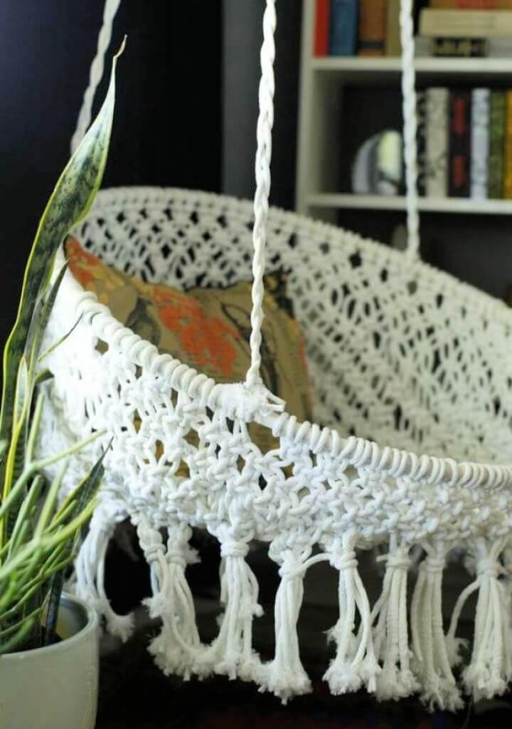 Build DIY Hanging Macrame Chair