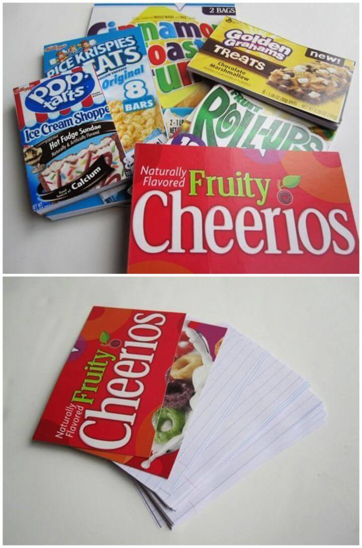 Build Your Own A DIY Cereal Box Notepads