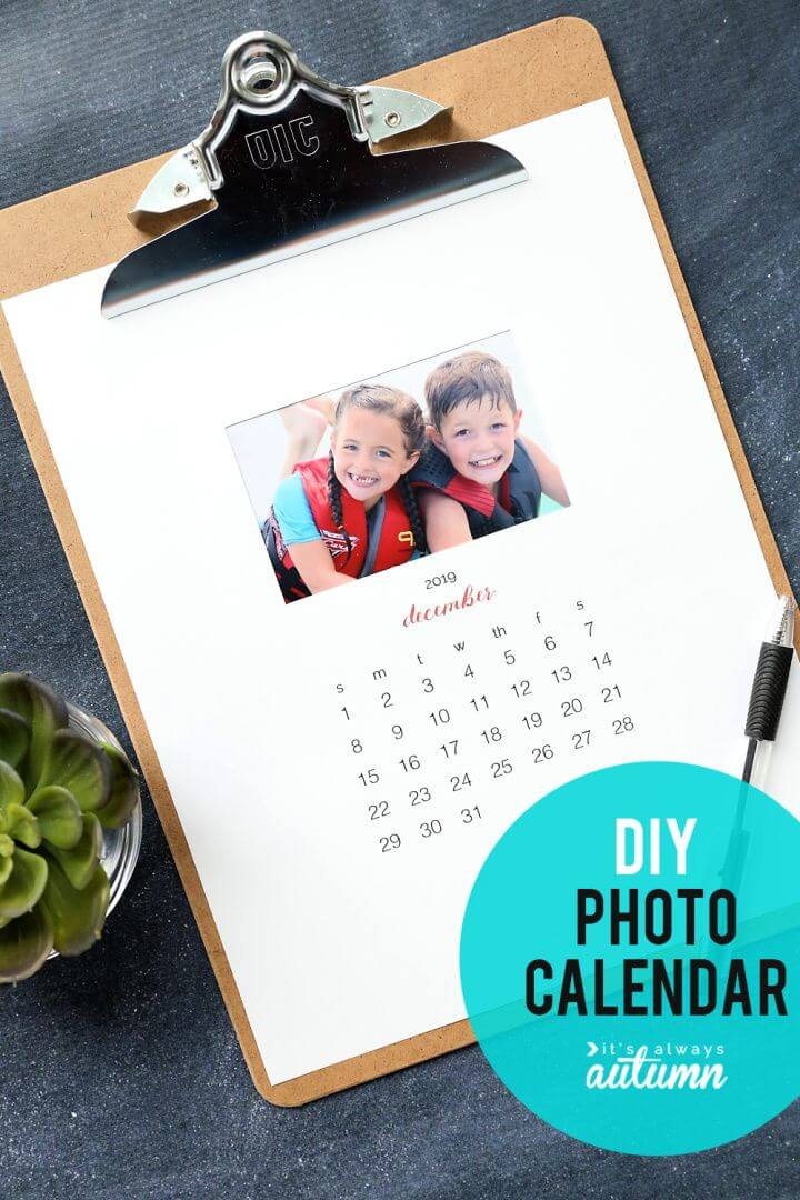 Build Your Own DIY Personalized Calendar
