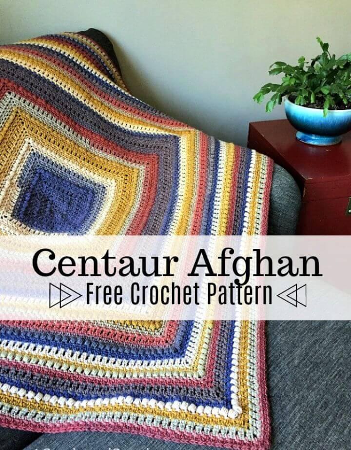 Centaur Afghan Free Crochet Blanket Pattern