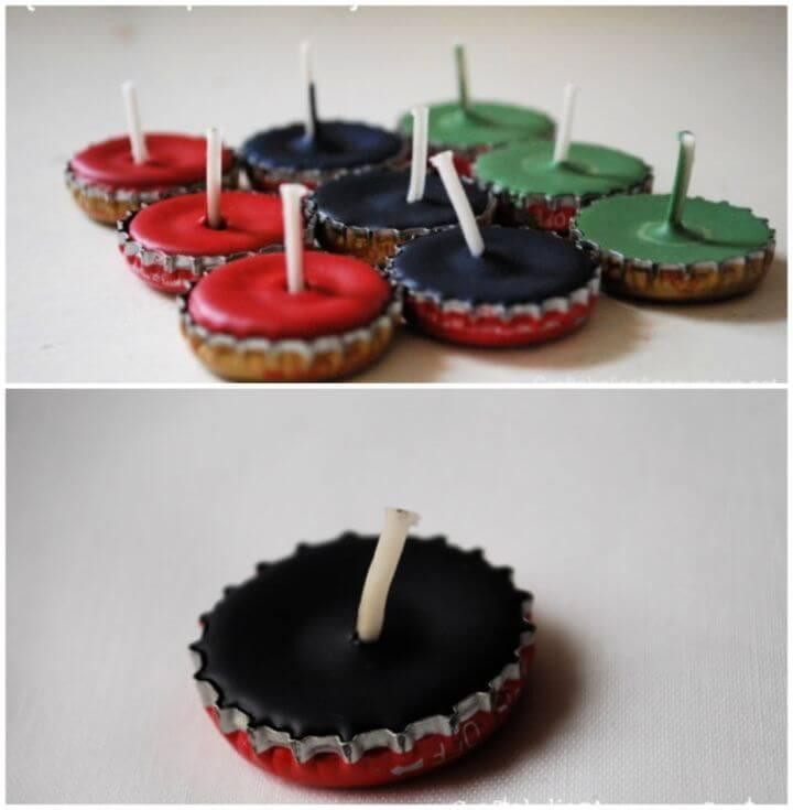 Create A DIY Bottle Cap Candles