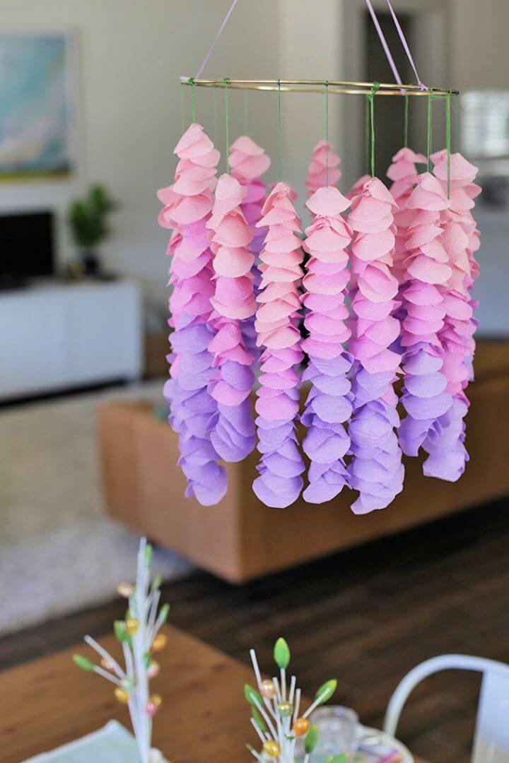 Create A DIY Crepe Paper Wisteria