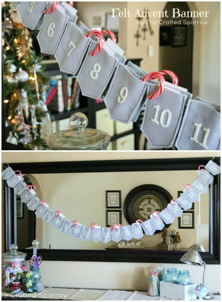 Create A DIY Felt Advent Banner Calendar