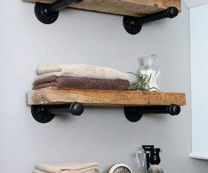 Create A DIY Industrial Pipe Shelves