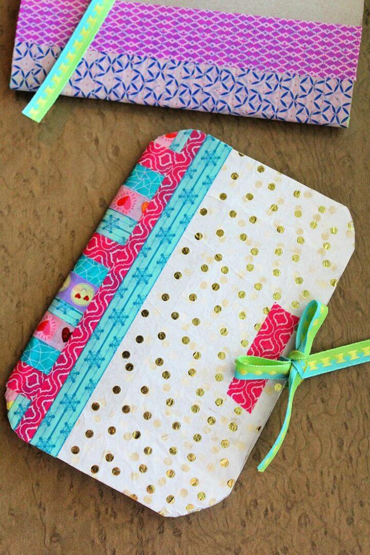 Create A DIY Notebook With Recycled Cereal Box