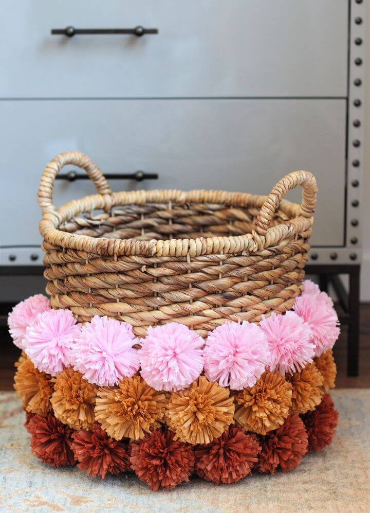 Create A DIY Pom Pom Basket