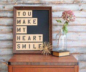 Create A DIY Stencil Letter Quote