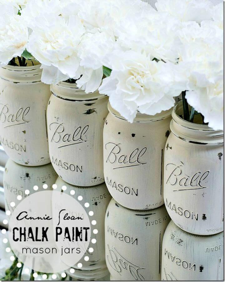 Create DIY Chalk Paint Mason Jars