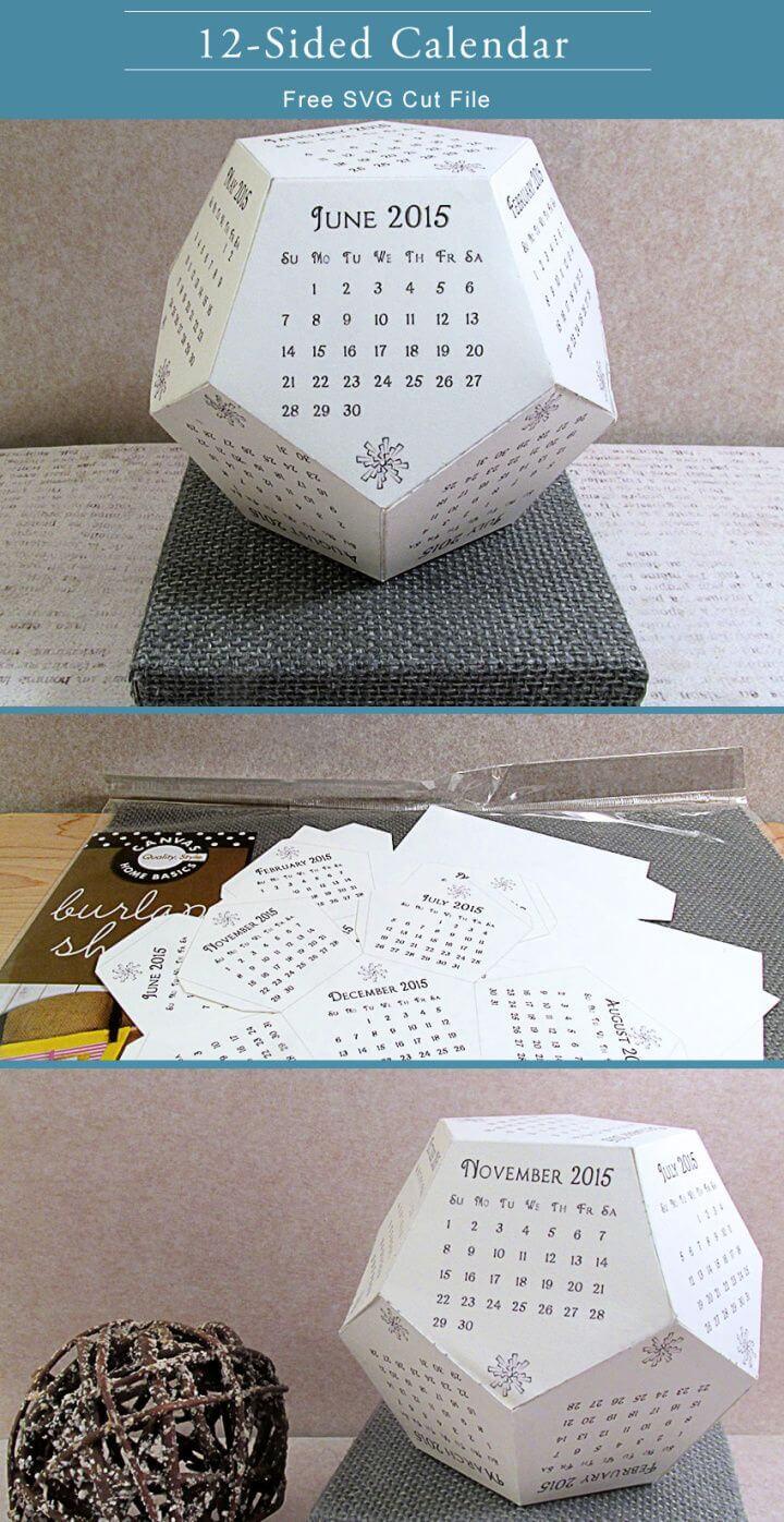 Create Youe Own DIY 12 Sided Calendar