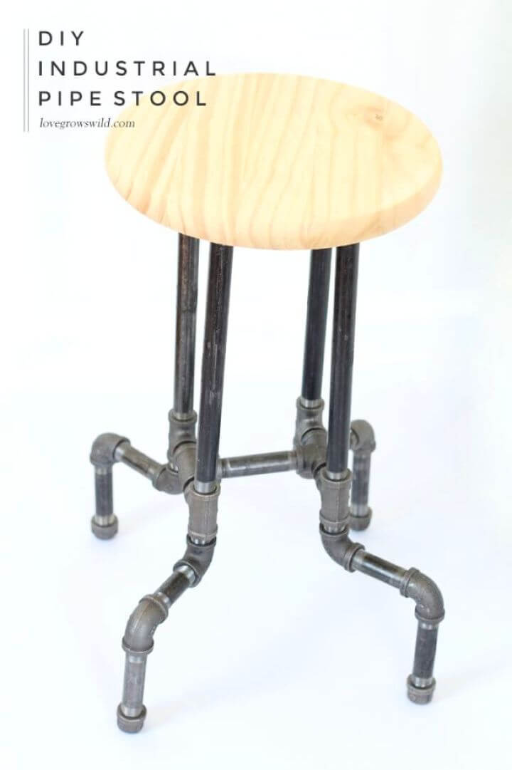 Create Your Own DIY Industrial Pipe Stools