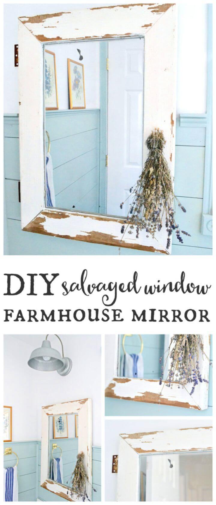 Create Your Own DIY Window Farmhouse Mirror