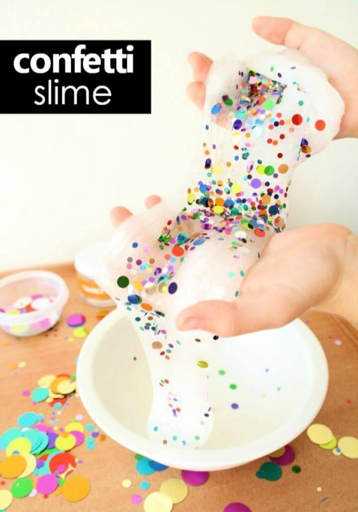 Cute DIY Confetti Slime For Kids