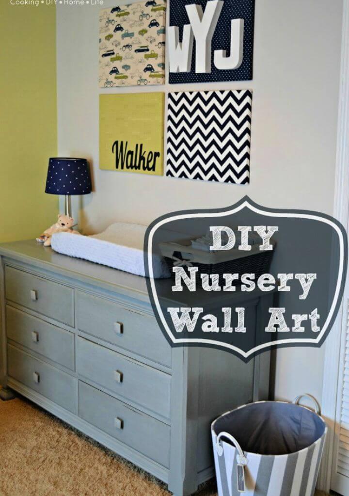 Cute DIY Nursery Wall Art and a Nursery Tour