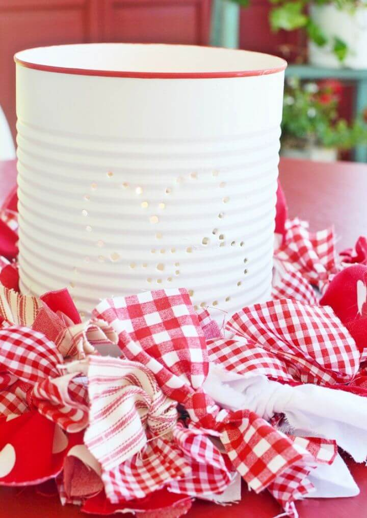 Cute DIY Punched Tin Can Lanterns