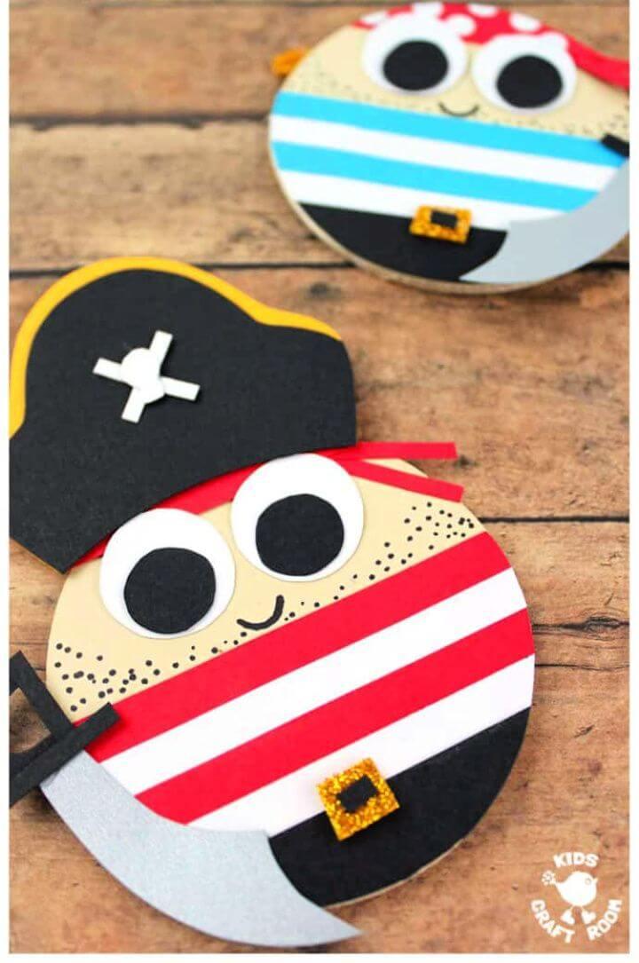 Cute DIY Round Pirate Craft
