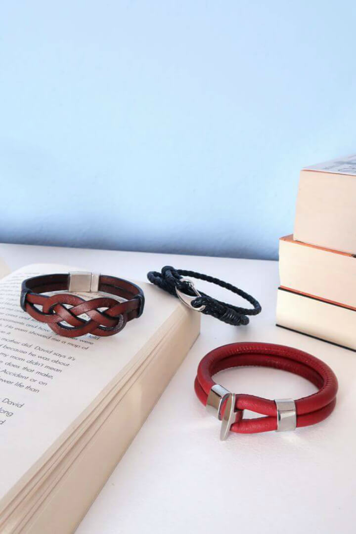 DIY 3 Styles Of Leather Bracelets For Guys1