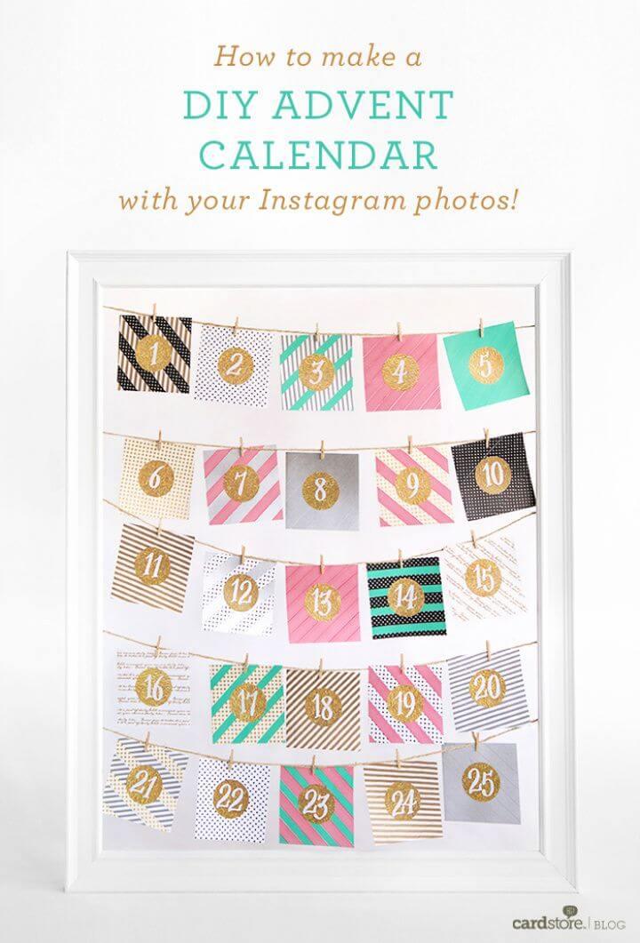 DIY Advent Calendar With Your Instagram Photos