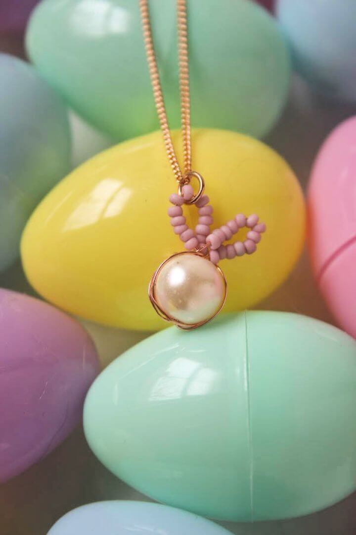 DIY Bead Bunny Necklace