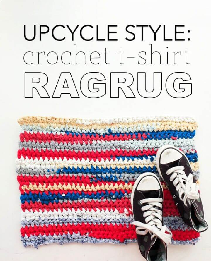 DIY Crochet T Shirt Rag Rug