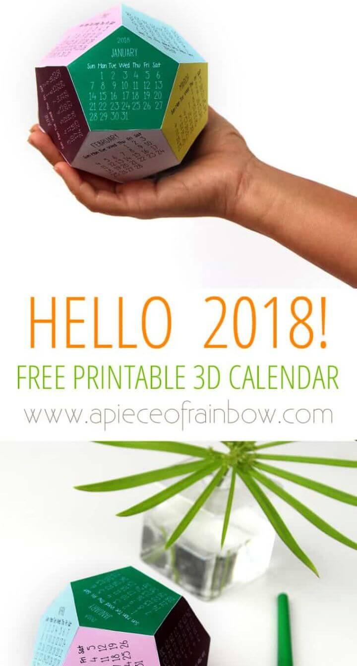 DIY Free Printable Calendar Template