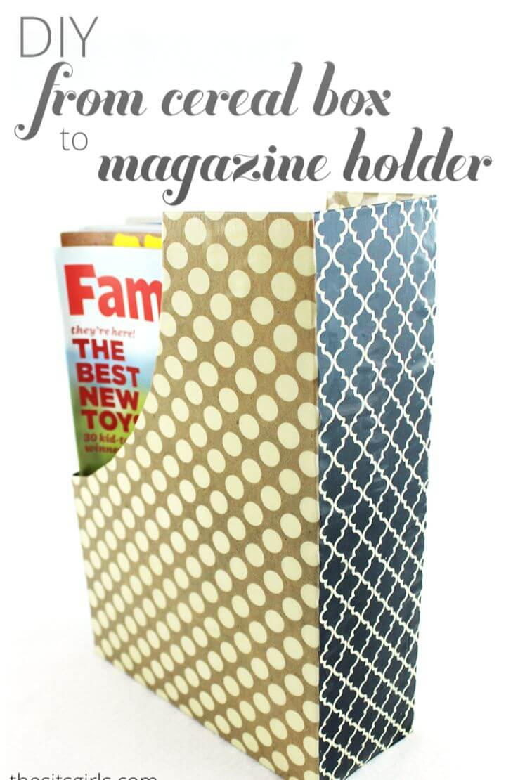 DIY From Cereal Box To Magazine Holder
